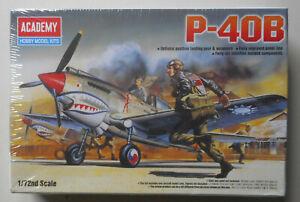 P-40B Tomahawk Fighter Plane Airplane Plastic 1:72 Scale Academy Model Kit 12456