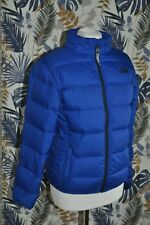 The North Face Puffer Jacket Boys Winter Blue Sz L 14-16 Years