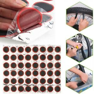 48pcs Rubber Patches Bicycle Motor Puncture Tube Inner Tire Tyre Bike Kit Repair