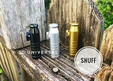 Aluminum Snuff Snorter Bullet Energy Snuff Available on Silver, Black or Gold