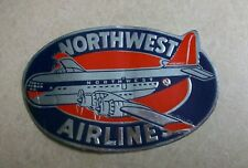 Vintage 1950's Northwest Airlines Boeing 377 Airplane Aviation Sticker Decal