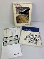 "Vintage 1989 Microsoft Flight Simulator 5.25"" Floppy Disk Version 4.0 for DOS"