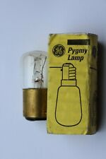 Pack of 6 Genuine GE Pygmy Lamps Bulbs Clear Glass 15w B22 BC 25x48mm 240v