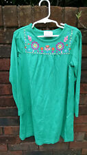 Hanna Andersson little girl size 120 or 6 7 Christmas dress green