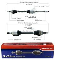 For Chevy Aveo Pontiac Wave FWD Pair Front CV Axle Shaft Assies SurTrack Set