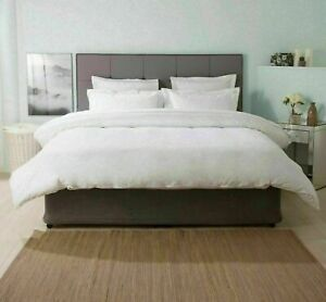 100% EGYPTIAN COTTON 1000 THREAD COUNT DUVET COVER SET+FITTED SHEET WHITE SOLID