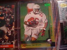 THOMAS JONES, CARDINALS 2000 SKYBOX RUBIES GREEN ROOKIE FOOTBALL CARD  #203