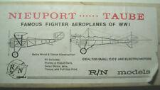 Nib R/N Models double stick tissue kt Nieuport 17C & Rumpler Taube Cg503 antique