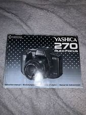 Original Yashica 270 AutoFocus Camera Instruction Manual VGC