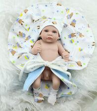 Newborn Boy Baby Soft  Body Reborn Dolls  Kids Baby Water Bath Toys Gift#