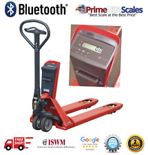 """Bluetooth 4.0 Pallet Jack Scale 5,000 lb 48"""" x 27"""" Works with iOS & Android App"""