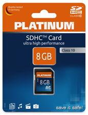 Platinum SDHC Karte 8GB Speicherkarte UHS-I Class 10