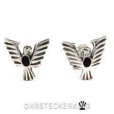 Ohrstecker Adler mit schwarzem Onyx-Stein, Echt Silber (925-Silber) ☆Neu☆