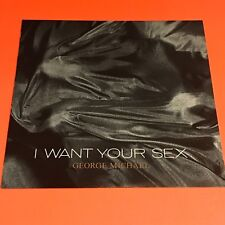 GEORGE MICHAEL I WANT YOUR SEX JAPAN 12 PROMO SAMPLE PROMO LABEL STICKER RARE