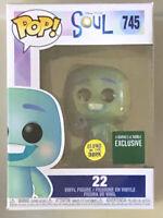 Funko Pop Disney Pixar Soul 22 #745 Barnes & Noble Exclusive Glows In The Dark