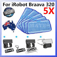 5X Microfiber Mopping Cloths for iRobot Braava Mopping Robot 320 321 380 308T AU