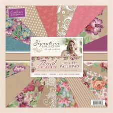 "New Sara Davies Signature Collection Floral Delight 12"" x 12"" Paper Pad"