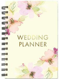 """Mary Square E1 Floral 5.5""""x8"""" 200 Pages Spiral Wedding Planner 20201"""