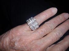 "Park Lane Jewelry, Vintage ""SPARKLING ICE"" Ring, S-8, Swarovski, Goldtone, New!!"
