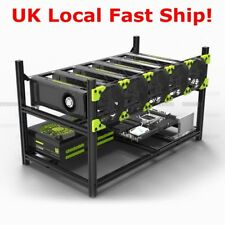Veddha Professional 6 GPU Miner Case Aluminum Stackable Mining Case Rig UK Ship