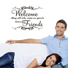 Welcome Friends Quote wall art sticker vinyl decal home room Removable Decor