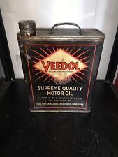 Bidon Huile Ancien Veedol 5l Rare Oil Can Oel Dose
