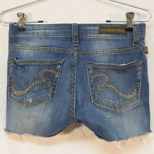 Rock & Republic Banshee Distressed Denim Cut-Off Short Shorts Size 2M