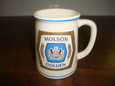 "Molson Golden---Mini Beer Mug---Franklin Porcelain---3 1/2"" Tall---1981"