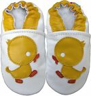 carozoo duck white 18-24m soft sole leather baby shoes