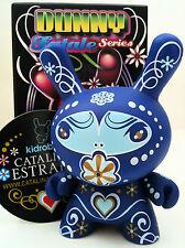 "DUNNY 3"" FATALE SERIES CARMINE ESTRADA BLUE 1/25 KIDROBOT DESIGNER TOY VINYL"