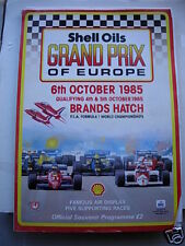 Grand Prix of Europe 1985 Official Programme