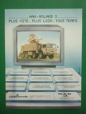 1980'S PUB EUROMISSILE MAN ROLAND 3 SYSTEME DEFENSE ANTIAERIENNE FRENCH AD