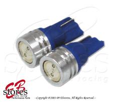 Set of 2pcs Blue Front Side Marker High Power LED Light Bulbs 168 - T10 Wedge