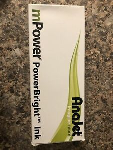 9x Four Anajet MPower Power Bright MP - White MPI-WH1 Garment Ink M Date 3/2015