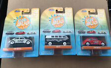 NEW 2020 JADA PUNCH BUGGY VW T1/VW BEETLE WHITE & RED COMPLETE SET OF 3