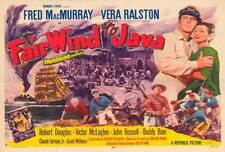 FAIR WIND TO JAVA Movie POSTER 27x40 B Virginia Brissac Fred MacMurray Howard