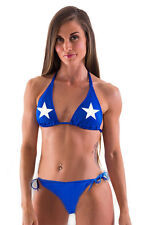 Bonnie Blue Flag bikini Womens Two Piece String Bikini Swimsuit Bonnie blue