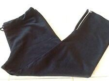 GAP Stretch Yoga Workout Black Knit Capri Crop Pants Legging Size L