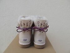 UGG ADORIA TEHUANO MINI BAILEY BOW SHEEPSKIN BOOTS, WOMENS US 7/ EUR 38 ~NIB