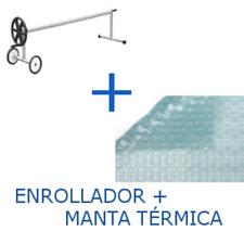 PACK Cubierta térmica de 500 micras Solar Energy + Enrollador telescópico
