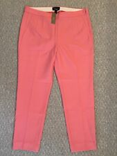 $120 Jcrew Martie Pant In Bi Stretch Wool 10 Petite Spiced Guava E1000 SOLD OUT!