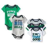 PUMA Baby Boys' 5-Pack Bodysuit  Size 6/9 Months New