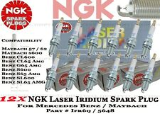 12 x NGK 5648 Laser Iridium Spark Plugs IFR6QG For Mercedes Maybach 57 62 V12 US