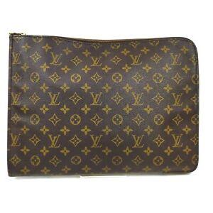 Louis Vuitton Brief Case M53456 Poche Documents Browns Monogram 1411497
