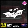 Baby Batman On Board 195x86mm Funny Baby Boy Girl Dadlife Mumlife 4x4