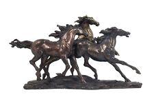 "Veronese Bronze Figurine Gabriella Veronese's ""Wild Horses of Camargue""  Statue"