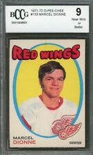 1971-72 o-pee-chee #133 MARCEL DIONNE red wings rookie card BGS BCCG 9