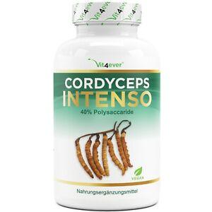 Cordyceps Sinensis -180 Kapseln á 650mg 100% CS-4 Extrakt 40% Polysaccharide