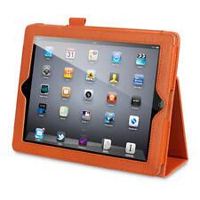 Orange Faux Cuir Folio Étui Avec en construit Stand Fonction Pour iPad 2/3/4