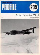 AIRCRAFT PROFILE 235 BLUE WW2 RAF AVRO LANCASTER MkII BRISTOL HERCULES RADIAL EN
